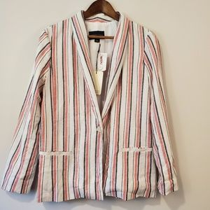 ADRIENNE VITTADINI blazer striped size Large